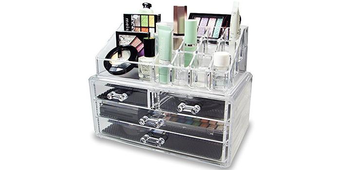 Ikee Design Acrylic Makeup Organizer