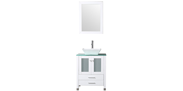 BATHJOY 24-inch Wood Vanity with Sink