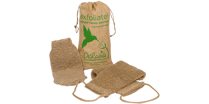 DeLaine's Natural Hemp Body Scrubber